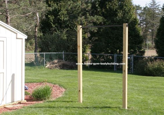homemade outdoor pullup bar for about 69 you can workout in the