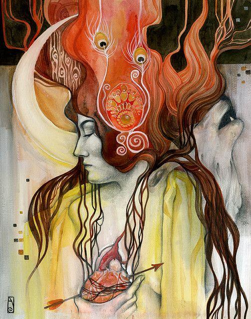Artemis par Patricia Ariel     Impossible de dire ce que ça m'évoque... mais ce dessin est très fort.