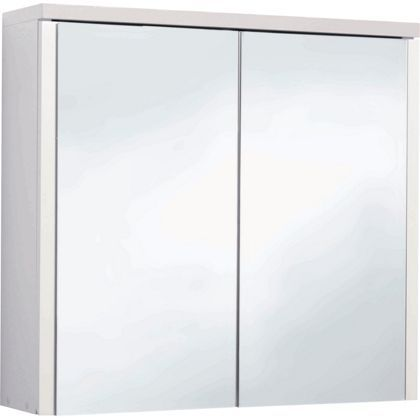 Montana Double Swivel Mirror Door Bathroom Cabinet - White