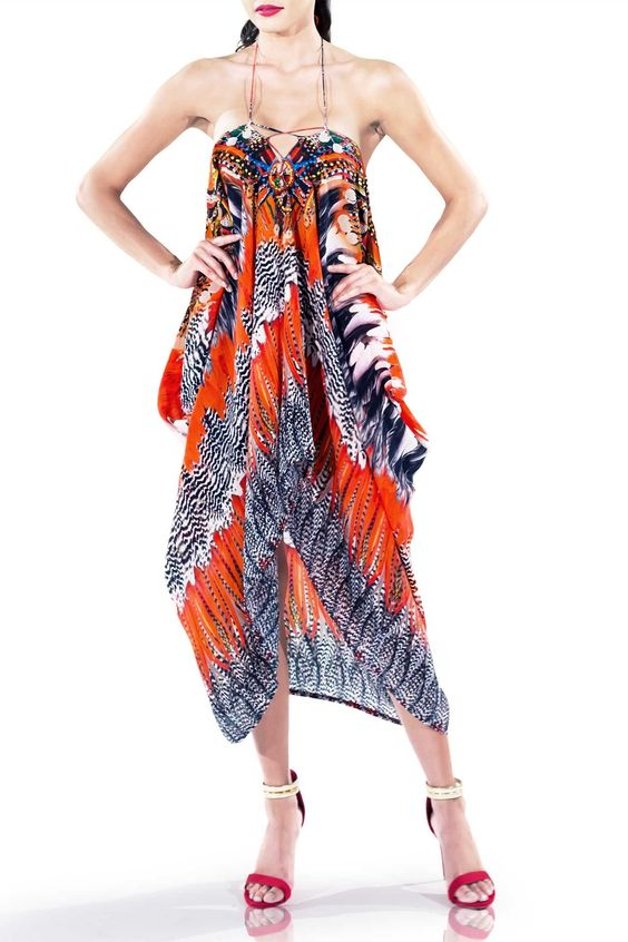With Love Lace Up Kaftan Dress Prints and Long Kaftan Dresses
