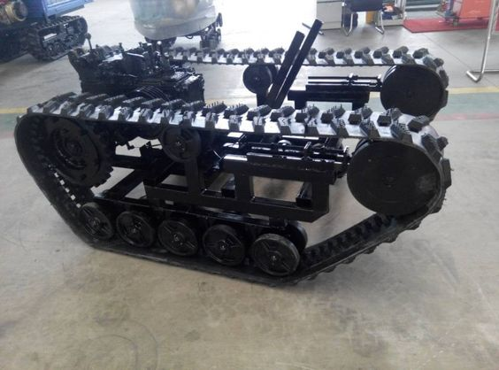 Lawn Tractor Dozer Tracks Conversion : Rubber tracks with sprocket track chassis