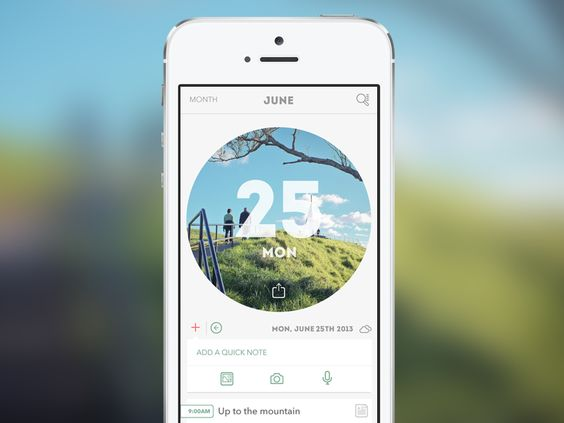 Journify Calendar App #UI | Mobile App User Interface Design