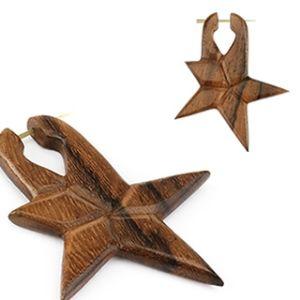 Handgjort örhänge i sono wood (par) : Örhängen, Örhänge i trä, Piercingsmycken, Piercingkungen.se