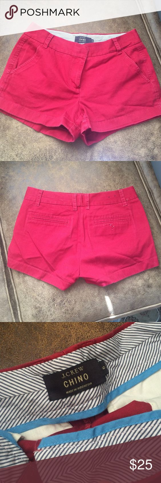 J. Crew Chino Shorts Red size 6 J. Crew chinos are the best and most comfortable shorts around. This color is great for fall too! $25 or best offer. J. Crew Shorts