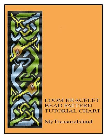 Bead Loom Celtic Dragons Bracelet Pattern PDF von MyTreasureIsland