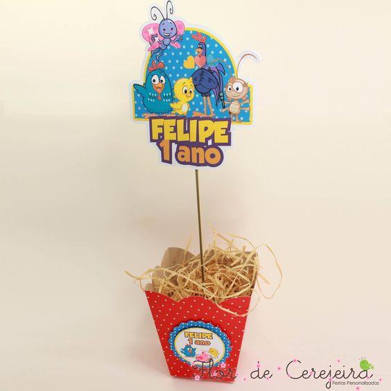 Galinha Pintadinha - Centro de Mesa | Flor de Cerejeira - Festas Personalizadas | Elo7