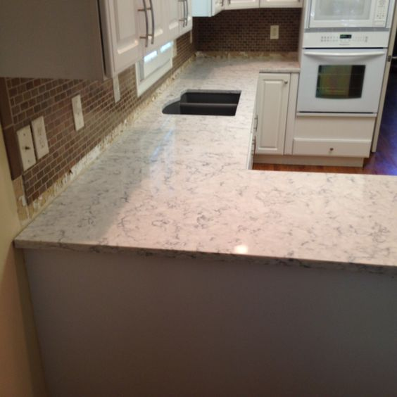 Rococo Lg Viatera Quartz Kitchen Countertop Install For The Purdy Family Knoxville 39 S Stone