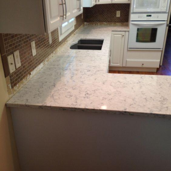 Rococo Lg Viatera Quartz Kitchen Countertop Install For The Purdy Family Knoxville 39 S Stone