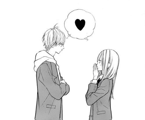 Pin On Cute Anime Couples Black And White