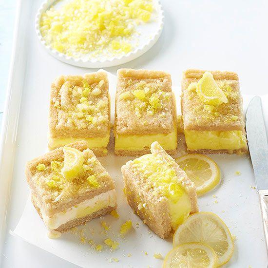 Lemon Bar Cookie Ice Cream Sandwiches