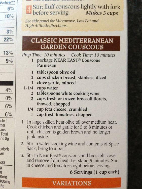 Classic Mediterranean garden couscous