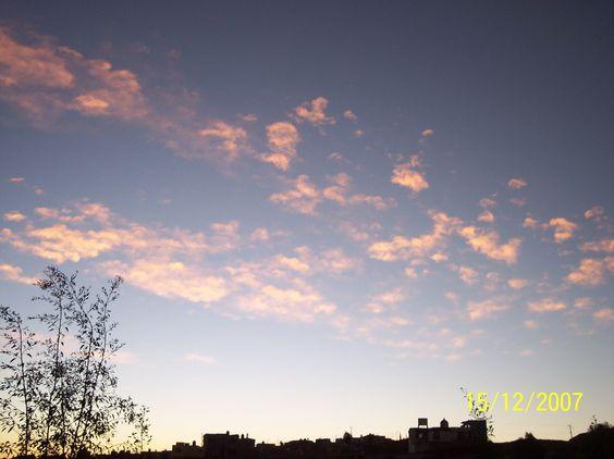 Cielo al atardecer en Zacatecas, Mexico