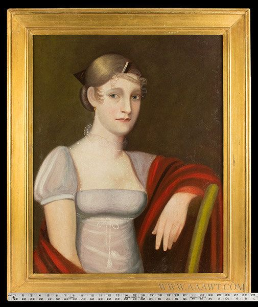 Outstanding Half Length Portrait, Young Woman, Feature1794: