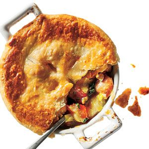 Chicken, Potato, and Leek Pie | MyRecipes.com We love that it is not a cream sauce!