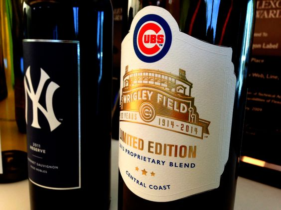 New York Yankees Amp Chicago Cubs Wine Bottles Bounty
