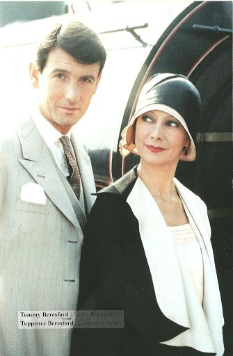 """James Warwick and Francesca Annis as Tommy & Tuppence (PBS '80s series """"Partners in Crime"""" by Agatha Christie)"""