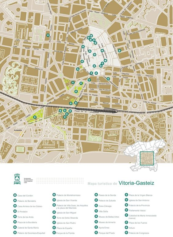 VitoriaGasteiz sightseeing map Maps Pinterest Vitoria