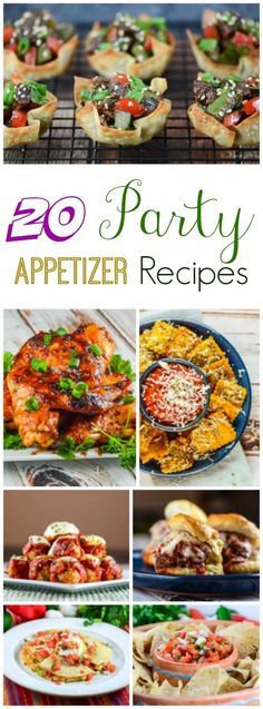 20 Party Appetizer Recipes that are perfect for a New Year's Eve party, or watching the big game!
