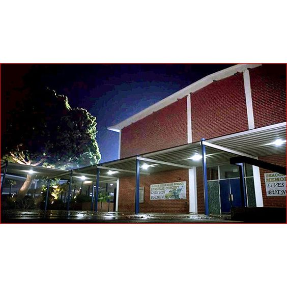 Teen Wolf Filming Locations: Beacon Hills High School ❤ liked on Polyvore featuring home, home decor and teen wolf