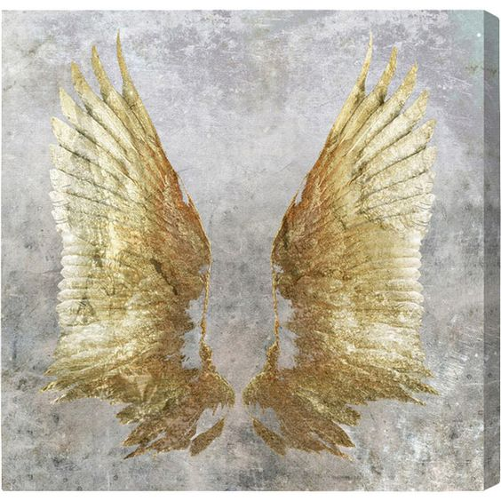 """16"""" x 16"""" My Golden Wings Canvas Print, Oliver Gal $161.95"""