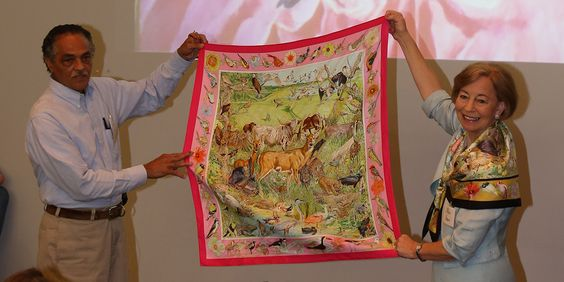 Only one American has ever been tapped to design scarves for Hermès, the legendary Paris fashion label -- and he's not what you would expect. Check out his story here, then see his work on display now at #Baylor University's Martin Museum of Art.