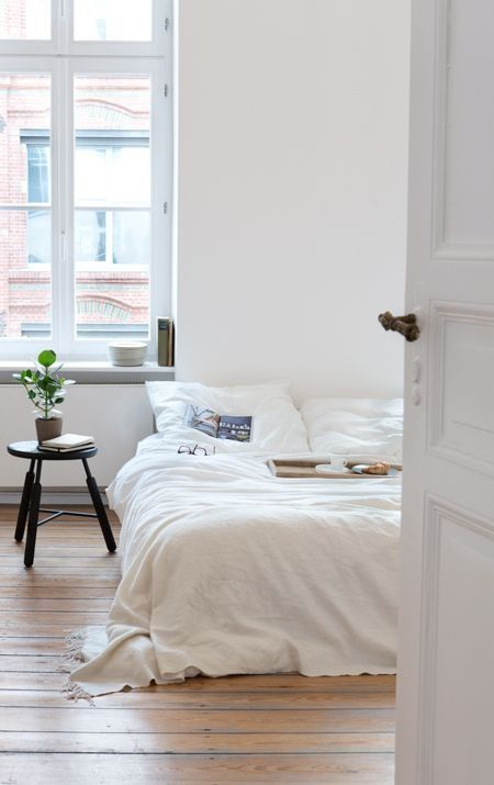 bedroom - this simple just appeals to me today, I want to be in that bed
