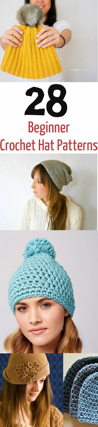 Crochet hat patterns that the whole family will love! From beanies and slouchy hats to winter caps, these crochet projects will keep you cozy.: