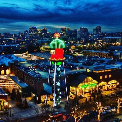 The Trolley Square Water Tower Is A Prominent Feature Of The Salt Lake City Skyline Water Tower Tower Cloudy Weather