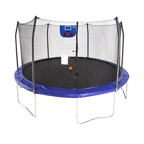 Discounted Skywalker Trampolines 15 Feet Jump N Dunk Trampoline With Safety Enclosure And Basketball Hoop 15 F Outdoor Trampoline Best Trampoline Trampoline
