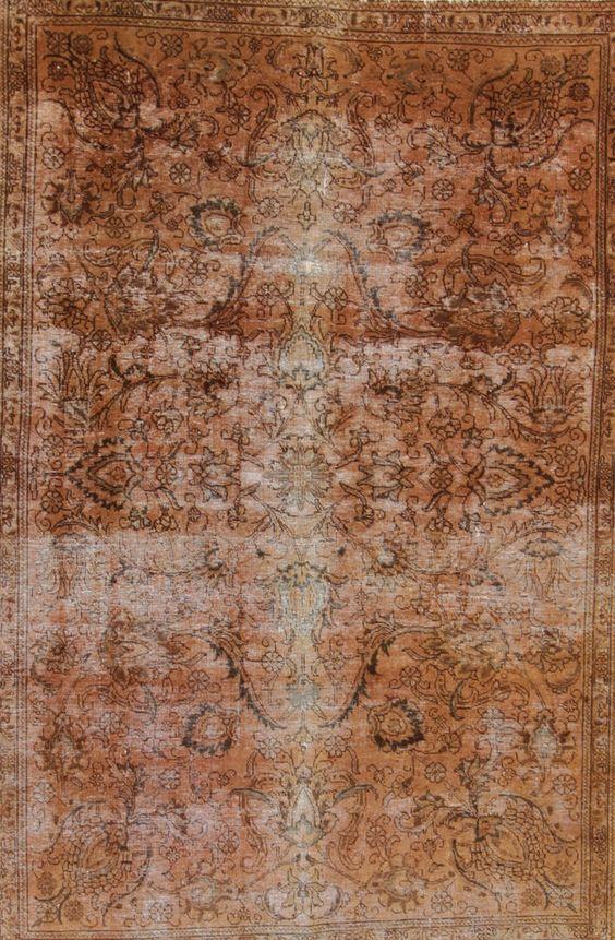 Wunderschöner Perser Teppich Vintage Handgeknüpfte alfombra 275 x 180 Patchwork