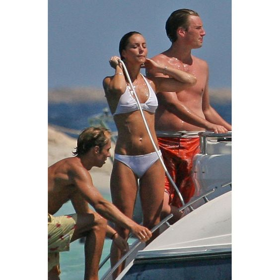 3 Spetember 2006: Kate Middleton on a yacht in Ibiza whilst holidaying with Prince William, unseen, and friends