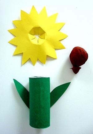 blume aus karton und papier pflanzen basteln meine enkel und ich made with. Black Bedroom Furniture Sets. Home Design Ideas