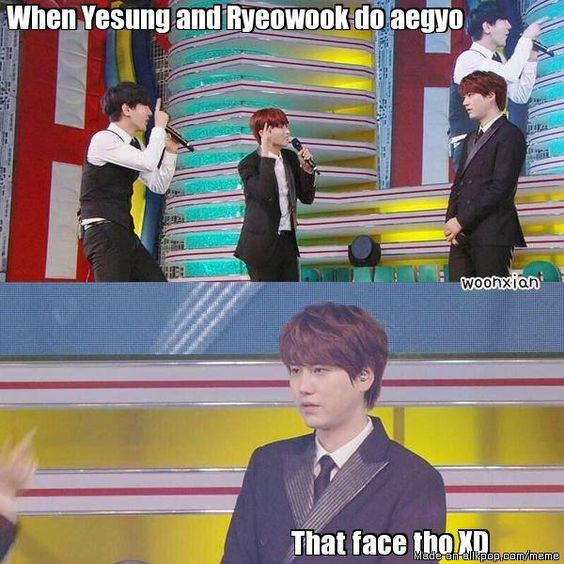 Kyuhyun's reaction.... | allkpop Meme Center