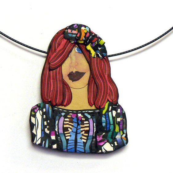 Stroppel Sweater Girl 3 - a slide necklace