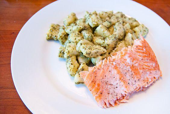 Gnocchi with salmon