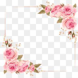 Free Download Wedding Invitation Flower Rose Pink Clip Art Rose Border Png 2480 2480 And 1 48 Mb Kartu Pernikahan Bunga Cat Air Ilustrasi Grafis