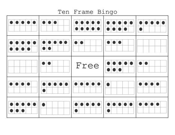 Ten+Frame+Bingo Class set made and ready to print! | Math ...