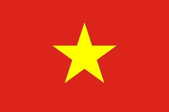 Flag of Vietnam - Bandeiras da Ásia – Wikipédia, a enciclopédia livre