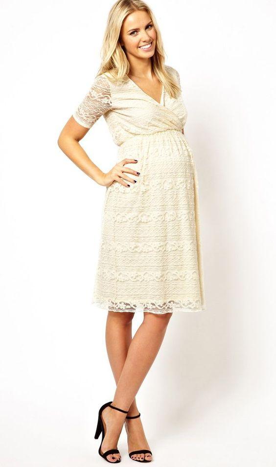 REVEL: Cream Maternity Dress