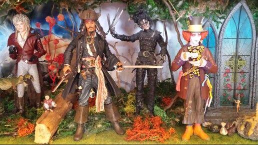 David Bowie und Johnny Depp x3 #Actionfigure #JohnnyDepp #DavidBowie