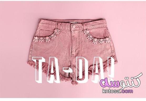اعادة تدوير الملابس بالخطوات بالصور طريقة جديدة و مبتكرة لتجديد الملابس Fashion Womens Shorts Boho Shorts