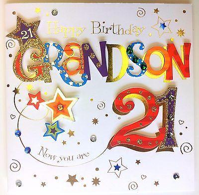 Happy Birthday Grandson Now You Are 21 Really Special Happy 21st
