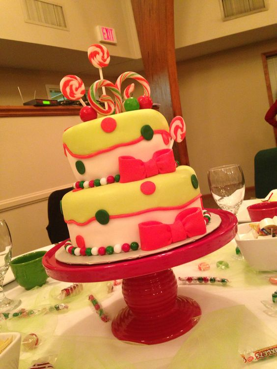 Christmas Candy Themed Cake