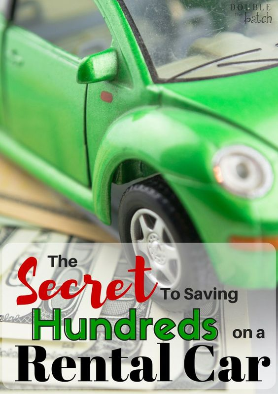 If you don't already know about this and you're planning a vacation where you'll need a rental car, you should definitely give this a read! Saved me SO much money!!