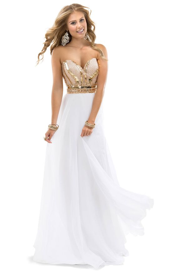 Sheath Dress with beaded sweetheart bodice | by FLIRT