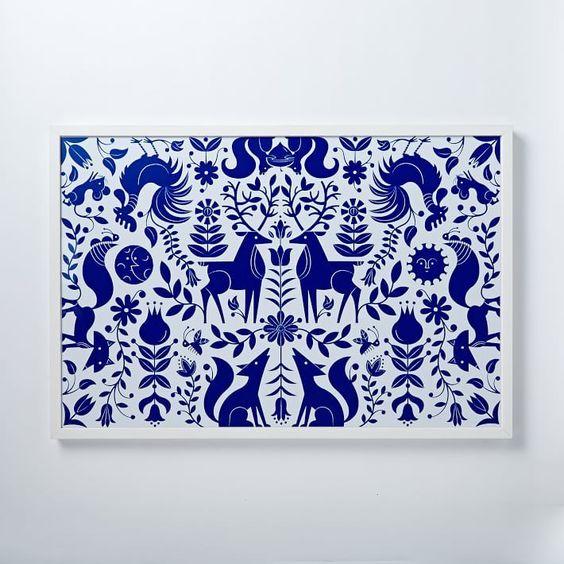 Gorgeous Blue Print. #artwork #decor #design #artlovers #giftideas