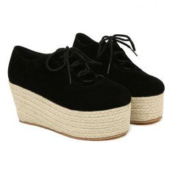 $15.93 Party Women's Platform Shoes With Sweet Knitting and Suede Design
