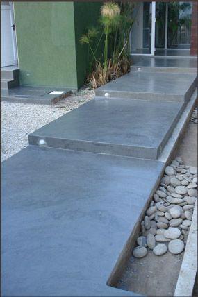 El microcemento es un revestimiento continuo para pisos y for Pisos para escaleras de concreto