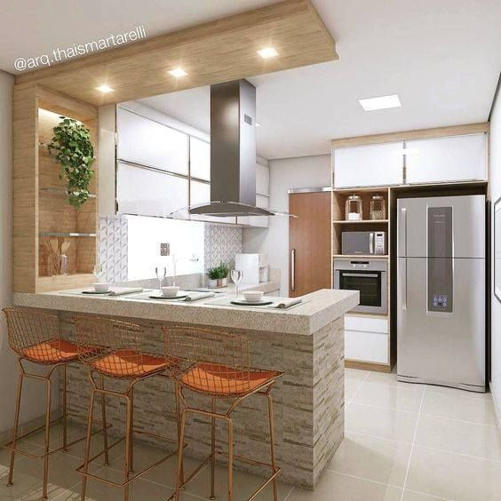 Barras Para Cocinas Diseno De Cocina Diseno De Interiores De Cocina Disenos De Cocinas Pequenas