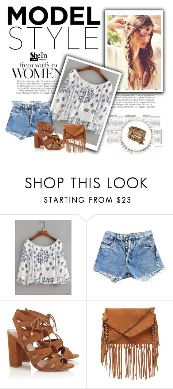 """""""SheIn contest"""" by elmahaskic ❤ liked on Polyvore featuring WithChic, Levi's, Lipsy, Forever 21 and ALDO"""